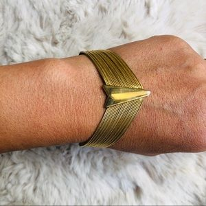 Vintage Bracelet Arrow Gold Toned Metal Bracelet